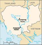 Cambodia. Map: RFA