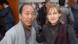 Maura Moynihan with Tibetan Youth Congress President Tsewang Rigzin.
