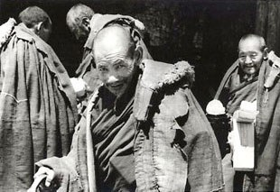 These elderly monks at Sera monastery survived the Cultural Revolution, when most monasteries were destroyed.