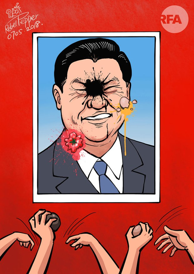 """Shanghai's """"Ink Woman"""" Silenced After Splashing Poster of China's President Live on Social Media"""