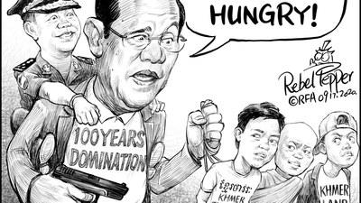 Looking After the Next Generation Strongman Hun Sen -- who said in June that he is grooming his eldest son, Hun Manet, 42, to take over leadership of Cambodia -- has had a wide range of young political, labor and environmental activists detained in recent weeks after protests over dire economic prospects, corrupt land deals, and a border dispute with Vietnam.