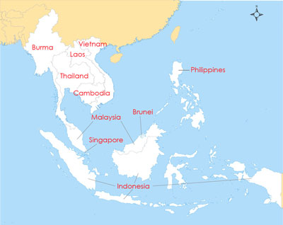 Map of ASEAN member Countries. Graphic: RFA