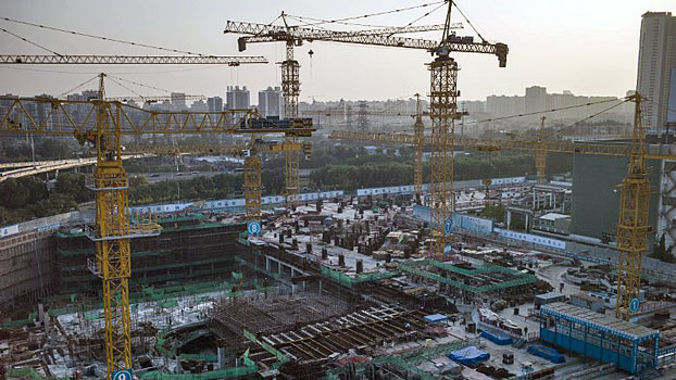 A general view of a construction site owned by State Grid Corporation of China, the country's state-owned electric utility monopoly, in Beijing, Oct. 17, 2016.
