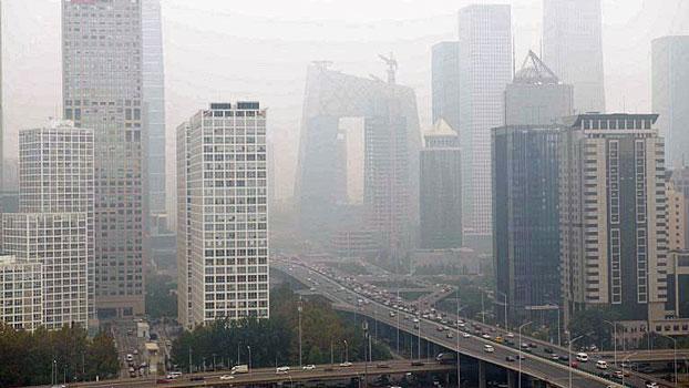 China Smog Cbd Beijing Oct