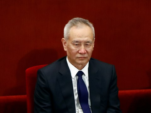 Chinese Vice Premier Liu He attends the closing session of the Chinese People's Political Consultative Conference (CPPCC) at the Great Hall of the People in Beijing, China May 27, 2020.