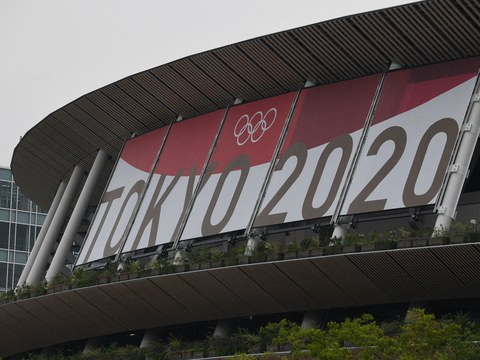 Tokyo's National Stadium, main venue for the Olympic Games, is shown in a July 7, 2021 photo.