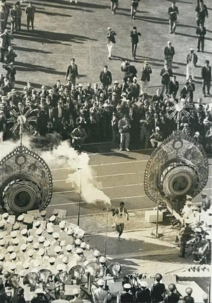 Tokyo Olympics 1964 Opening Ceremony. (Photo courtesy of Wikipedia)