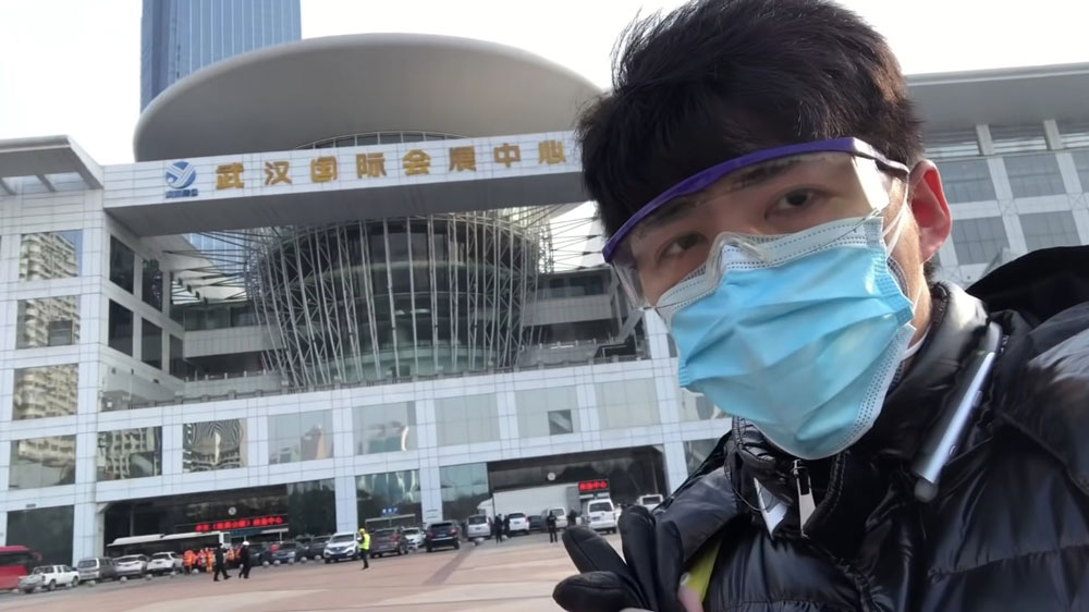 Citizen journalist Chen Qiushi was detained by police in February 2020 after he started livestreaming from hospitals in Wuhan.