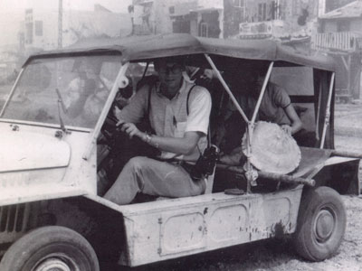 Dan Southerland driving a mini-moke in Vietnam, in an undated photo.