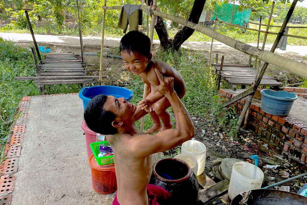 Concern about the future for his son drove Ko Phyo to join the anti-junta protests - where he served as a guard protecting fellow protesters from security forces - and motivated him to recover faster, leaving the hospital after 12 days, he says. (REUTERS)