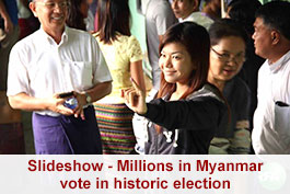 Millions in Myanmar vote in historic election