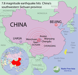 China quake kills thousands a strong earthquake ripped through western china on may 12 toppling buildings and killing nearly gumiabroncs Gallery