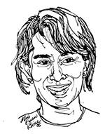 Aung San Suu Kyi. Courtesy of Artist Min Kyaw Khine