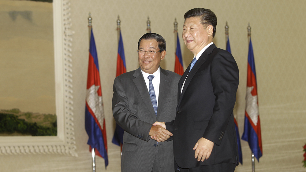 Image result for hun sen and xi jinping