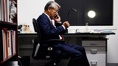 Cambodian-Australian Victoria state parliamentarian Hong Lim in his office in Melbourne, March 6, 2018. Credit: AFP