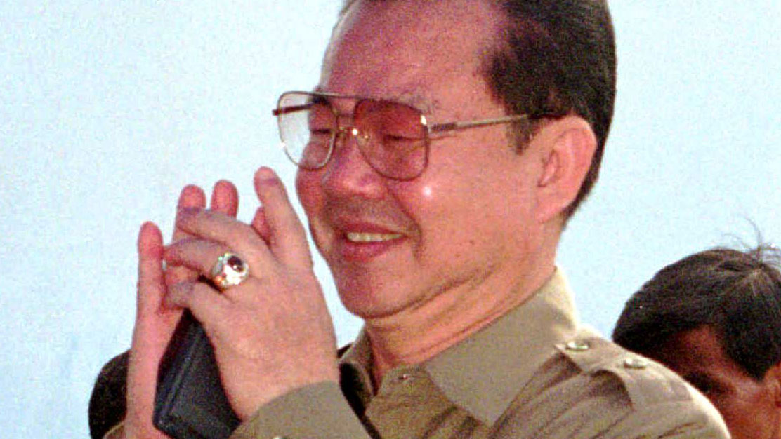 Once Cambodia's wealthiest tycoon, Teng Boonma, is pictured at a Cambodia trade fair in Takhmau town, south of Phnom Penh, in this April 9, 1995 file photo.