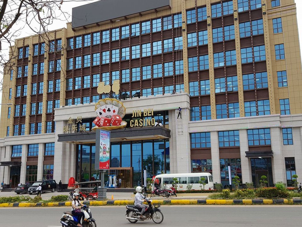 Jin Bei Casino in the southern resort city of Sihanoukville, a magnet for Chinese gamblers visiting Cambodia. The casino is owned by Chen Zhi's Jin Bei Group.