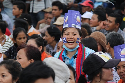 CNRP supporters rally in Phnom Penh's Freedom Park, Aug. 26, 2013. Photo credit: RFA