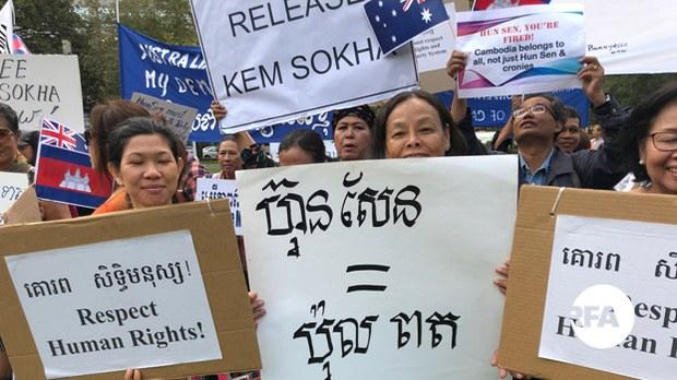 cambodia-hun-sen-protest-sydney-march-2018