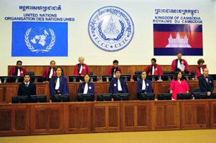The courtroom at the Extraordinary Chambers in the Courts of Cambodia in Phnom Penh, June 27, 2011.
