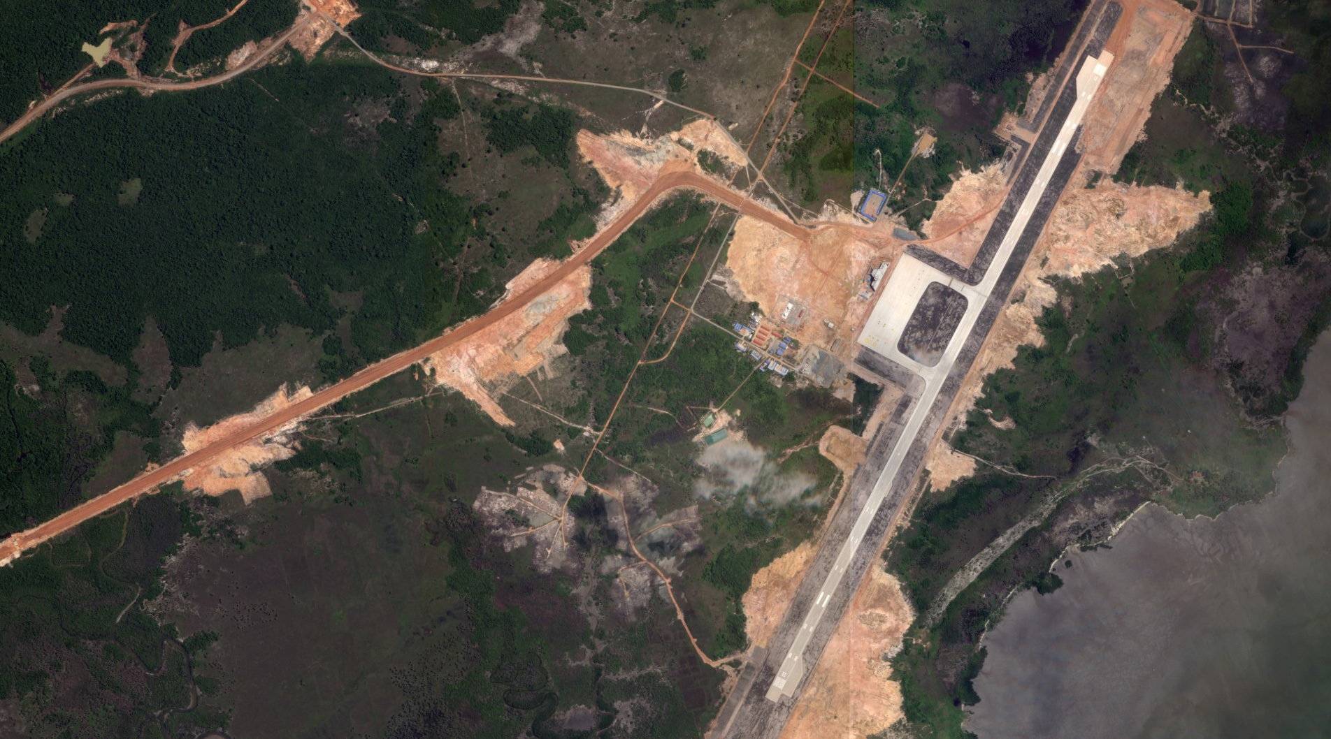 Cambodia's Dara Sakor airport is shown under construction by China's United Development Group (UDG) in a June 9, 2020 photo.