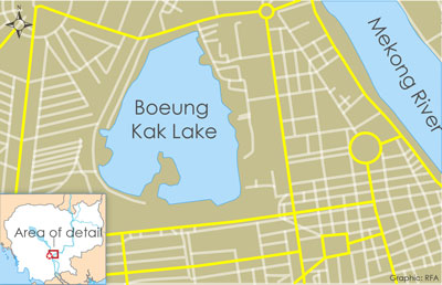 Authorities will reserve 12.5 hectares of land at Boeung Kak Lake for villagers to develop. Credit: RFA