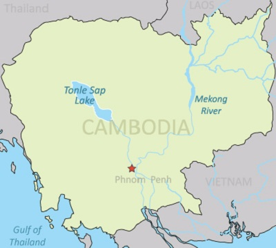 Map of the Tonle Sap in Cambodia