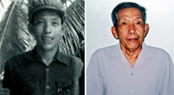 Left: An undated picture of Kaing Guek Eav, known as