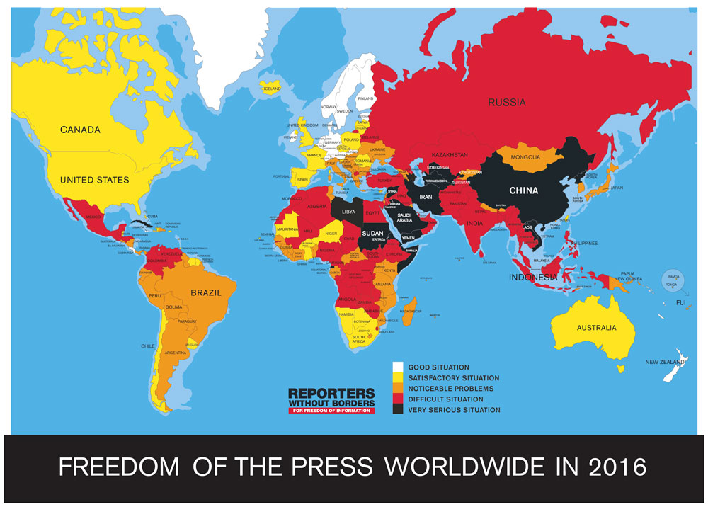 Asian Communist States Get Lowest Press Freedom Marks in Survey