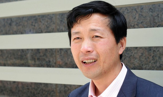 Chinese rights lawyer Tang Jitian is shown in a file photo.