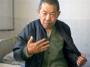 Xu Lindong was admitted for a medical checkup after leaving the mental hospital where he was allegedly abused.