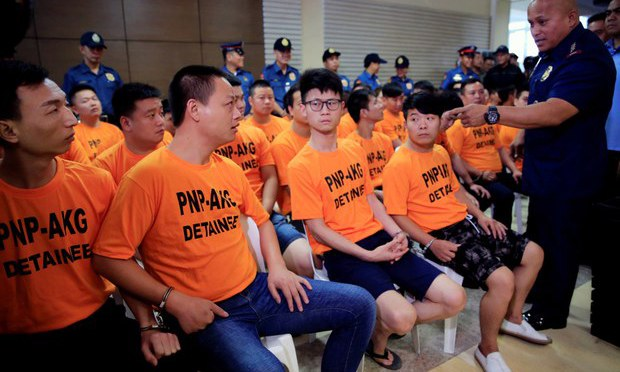 Philippine Police Catch Eight Suspected Chinese Members of Kidnap Gang