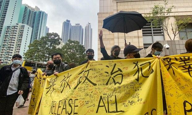 Hundreds Protest as Hong Kong Locks up 47 Democracy Activists, Politicians