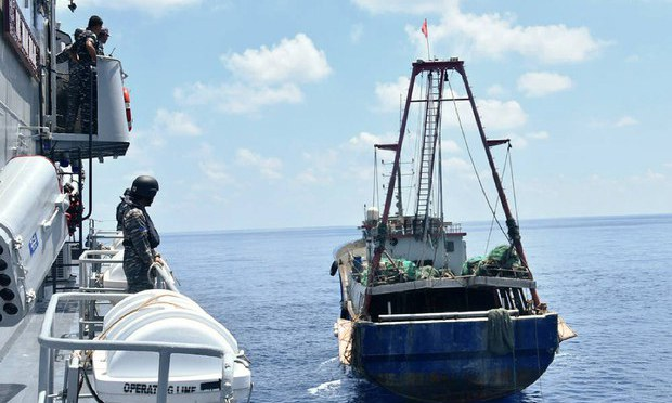 Indonesian Coast Guard Intercepts, Escorts Chinese Survey Ship From EEZ