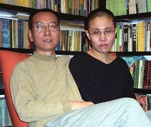 Liu Xiaobo and his wife Liu Xia in a photo taken in Beijing, Oct. 22, 2002.