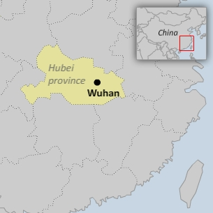 Tangjiadun village lies within Wuhan city proper in central China's Hubei province.