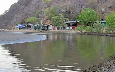 The fishing village of Brito near the Pacific Ocean is where the canal will begin and a port and hotel will be built, May 2015. Credit: RFA