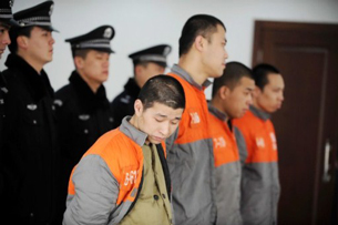 Organ trafficking suspects stand trial in Beijing, Feb. 15, 2011.