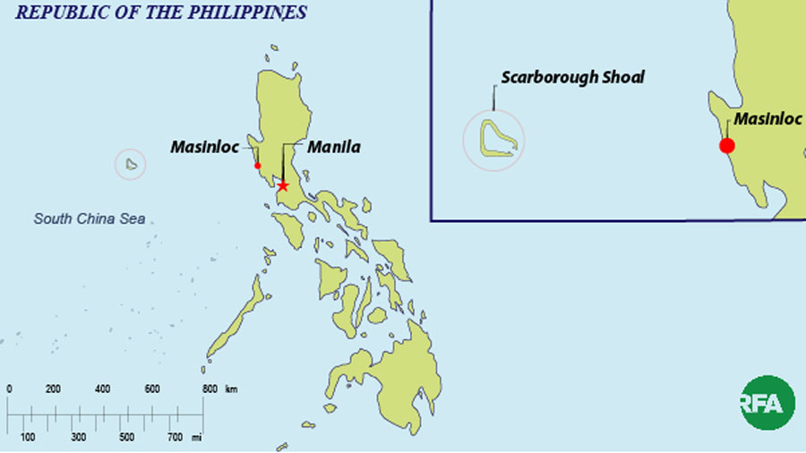 Masinloc and the Scarbrough Shoal.