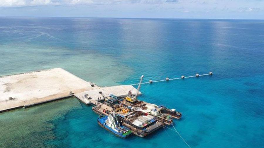 Philippines Inaugurates Beaching Ramp on Manila-claimed Island in South China Sea