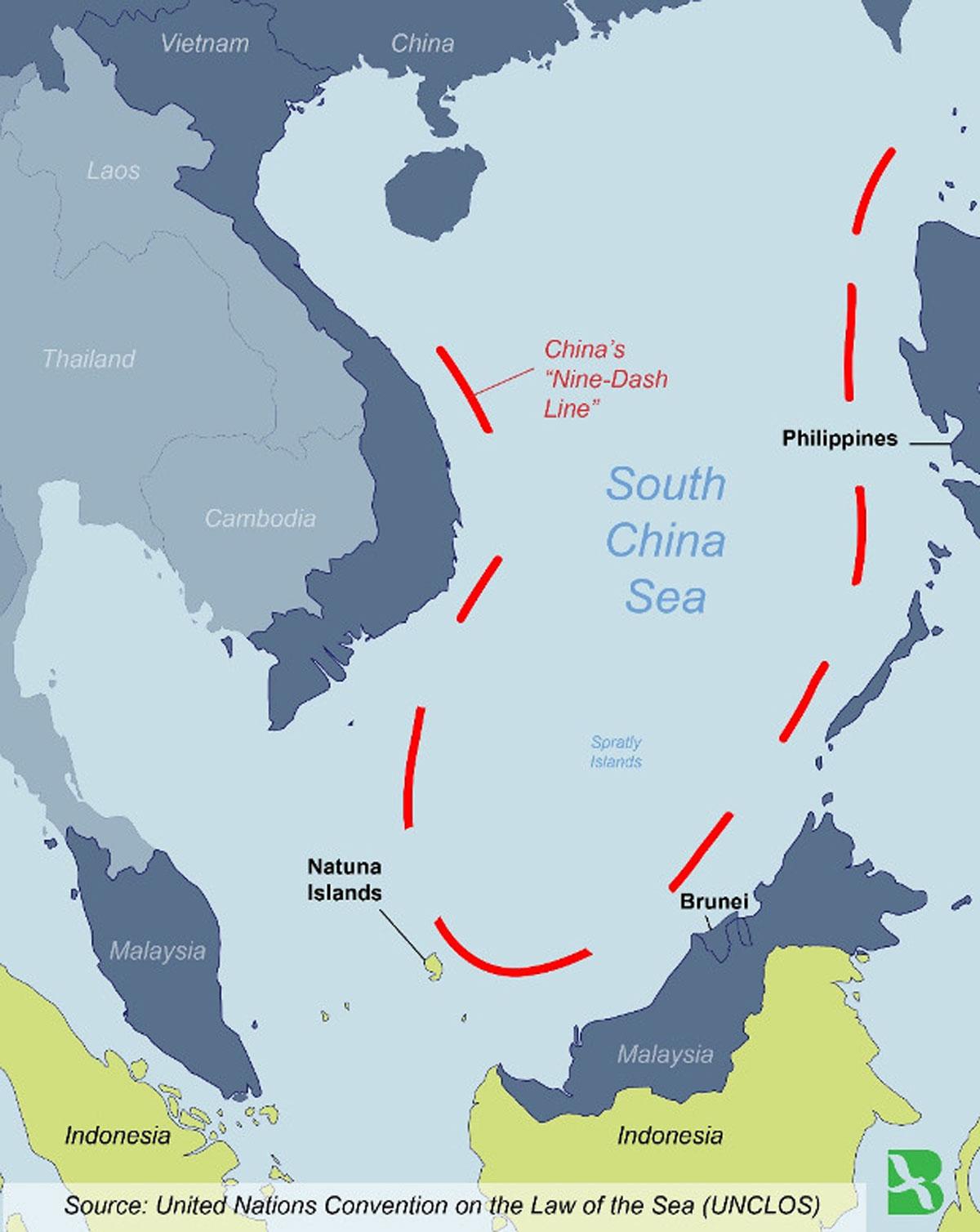 China's Nine-Dashed Line.