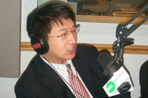 Rights lawyer Zhang Kai in RFA's studio in Washington, D.C., Oct. 23, 2009. Credit: RFA