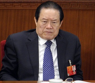 Zhou Yongkang at the National People's Congress opening session in Beijing, March 5, 2012.