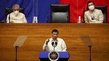 Philippine President Rodrigo Duterte delivers his sixth State of the Nation Address at the House Chamber in Metro Manila, July 26, 2021.
