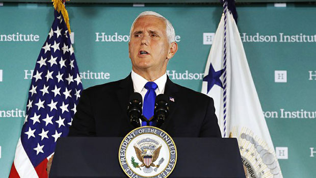 Image result for mike pence, china speech, hudson, photos