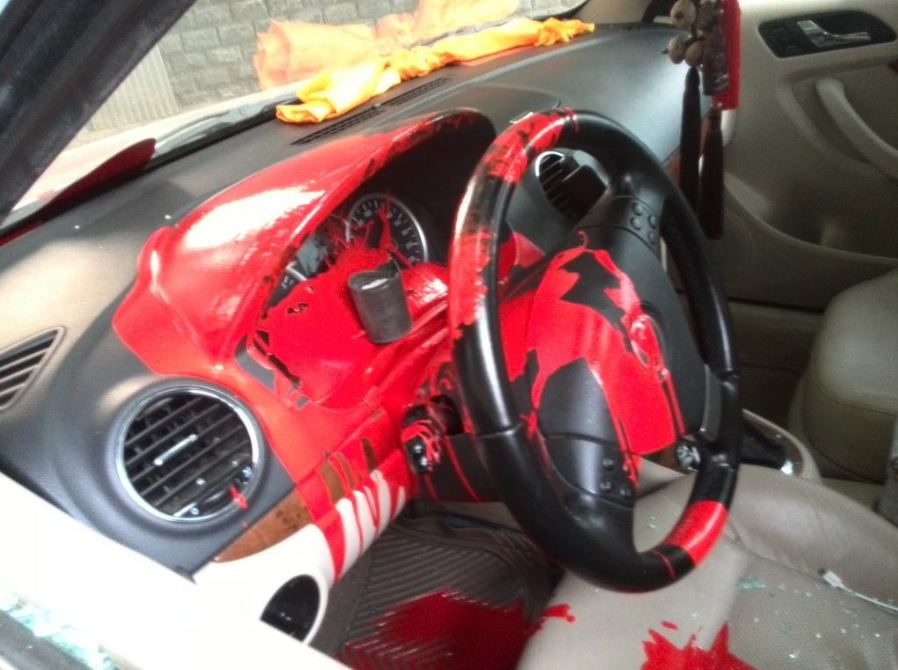 beijing rights activist receives death threats car vandalized