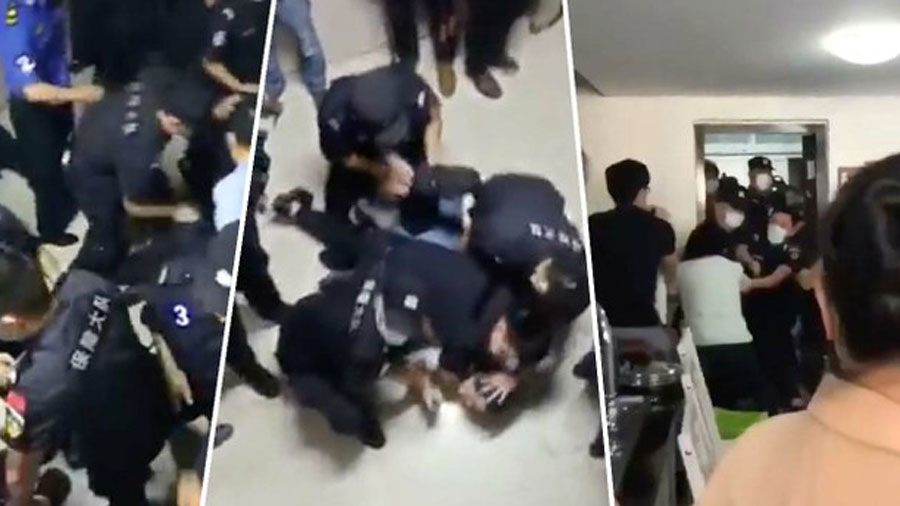 WATCH: Police in China Violently Raid House Church and Drag Out Congregants During Sunday Worship Service