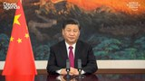 China's President Xi Jinping the World Economic Forum remotely, Jan. 25, 2021.