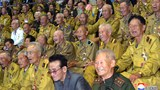 The Central Committee of the Workers' Party of Korea hosts a banquet in honor of the participants in the 5th National Conference of War Veterans, in this undated photo released by North Korea's Korean Central News Agency (KCNA) in Pyongyang July 30, 2018.