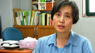 Kim Young-In, counselor at the Kong Rung Welfare Center in Seoul, July 2009. RFA photo.